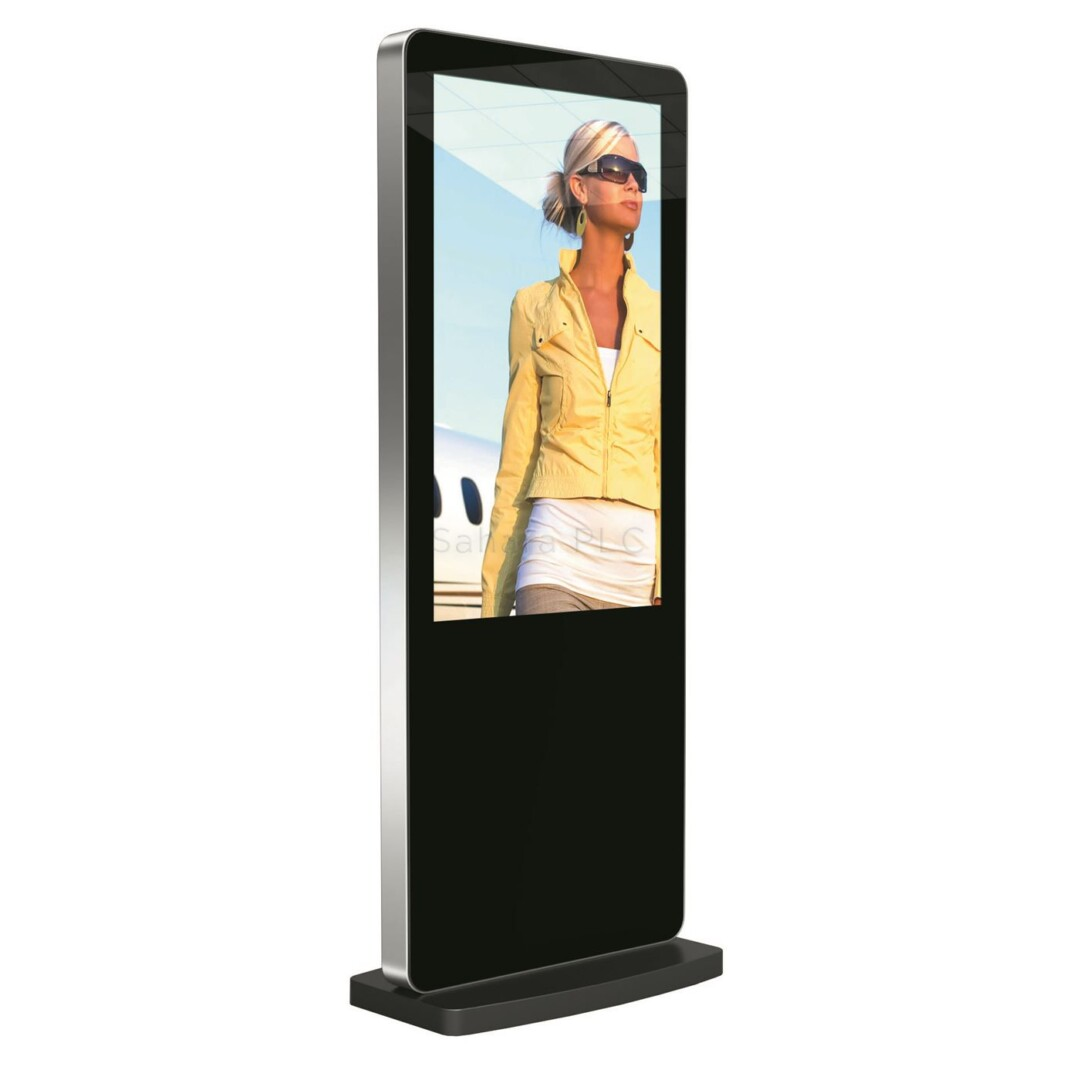 55″ Slimline Freestanding Digital Advertising Screen