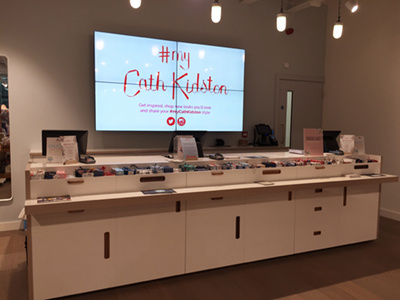 digital signage screens video wall retail pos counter cath kidston