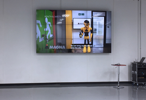 digital signage screens video wall warehouse training