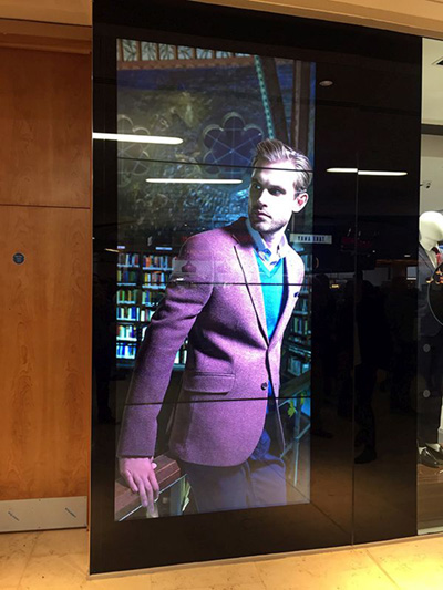 digital signage screens video wall fashion retail