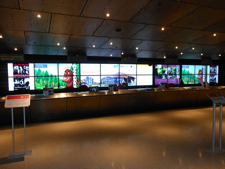 digital signage screens video wall ports
