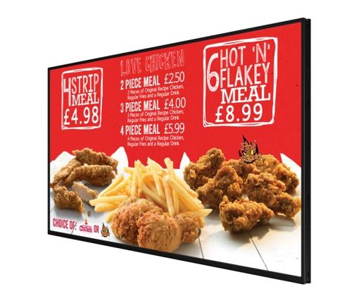digital signage screens menu boards