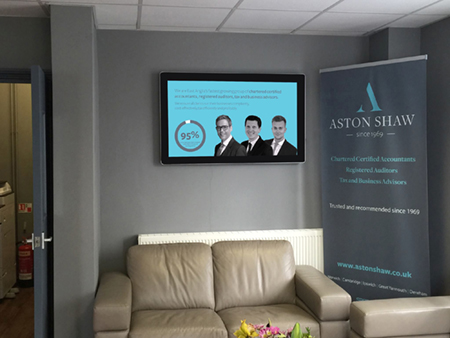 digital signage screen office