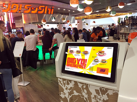 digital signage screen restaurant