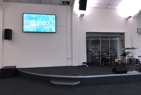 digital signage screen church