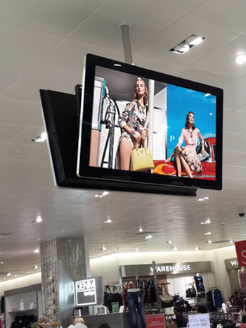 digital signage screen retail department store
