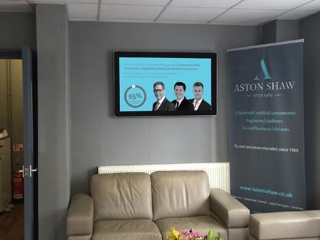 digital signage screen office showroom