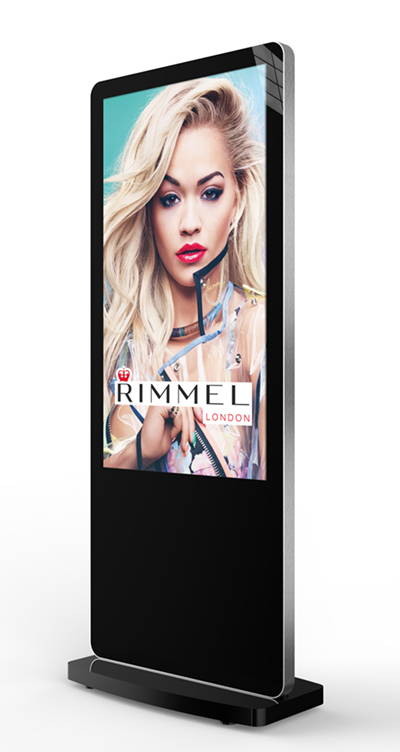 digital signage screen freestanding poster