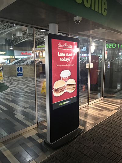 digital signage screen service station