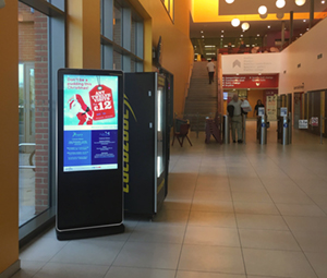 digital signage screen leisure centre