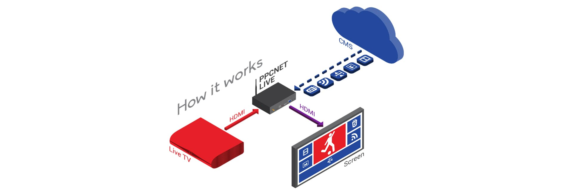 Digital Signage Multimedia Players with Software