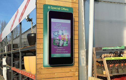digital signage screens outdoor garden center
