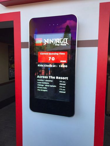digital signage screens outdoor theme park outdoor
