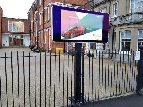 digital signage screens outdoor school