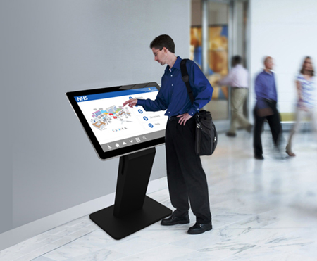digital signage screens touch screen kiosk hospital