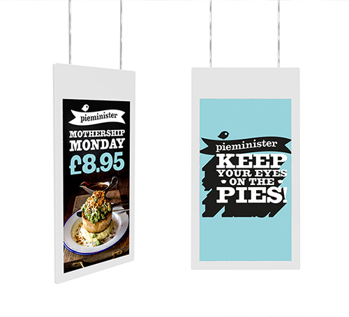 Double Sided Hanging Displays