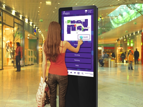 Freestanding Multi Touch Screen Posters